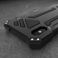 For Apple iphone x 7 8 6 6s Plus 5S SE Case Doom Armor Carbon Fiber Metal Gorilla Tempered Glass Protect Phone Case