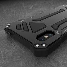 Per Apple Iphone 11 Pro Max X Xr Xs Max 7 8 6 6 S Plus 5S Se Caso di Gundam armatura in Metallo Vetro Temperato Protegge La Cassa Del Telefono