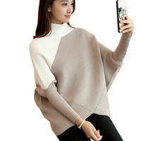 Fashion Women Sweater Autumn Winter Loose Pullover Turtleneck Cashmere Sweater Pull Femme Female Christmas Knitted Sweater