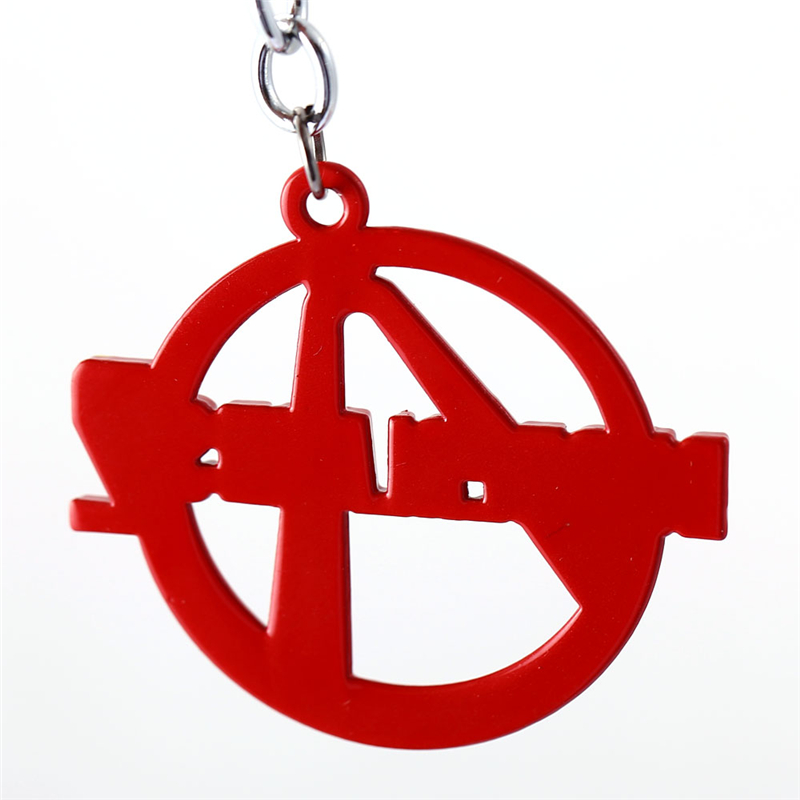 J Store Borderlands Keychain Borderlands 2 Red Logo Model Alloy Key