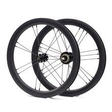Велосипед колёса 1 ~ 3 Скорость 16×1 3/8 «349 сзади и спереди для 3sixty Brompton складной велосипедные диски из карбона 14 H/21 H DIY
