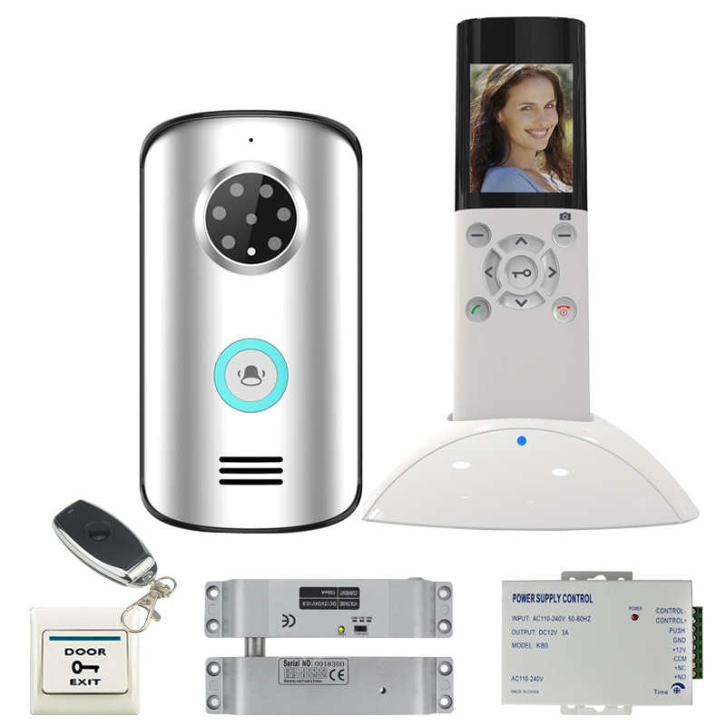 JERUAN Wireless video door phone  remote control doorbell intercom system kit waterproof infrared night vision camera In stock ip video door phone intercom system wireless control ip camera video intercom remote control smart doorbell via smartphones