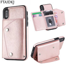 Back Wallet Flip Case For iPhone XS Max X 6 6S 7 8 Plus XR Card Pocket Cover For Samsung Note 8 9 S8 S9 S10 Plus S7 Edge S10e multifunction woven pattern zipper wallet case for samsung note 10 8 9 s8 s9 s10 plus s10e for iphone xs max xr x 6 6s 7 8 plus