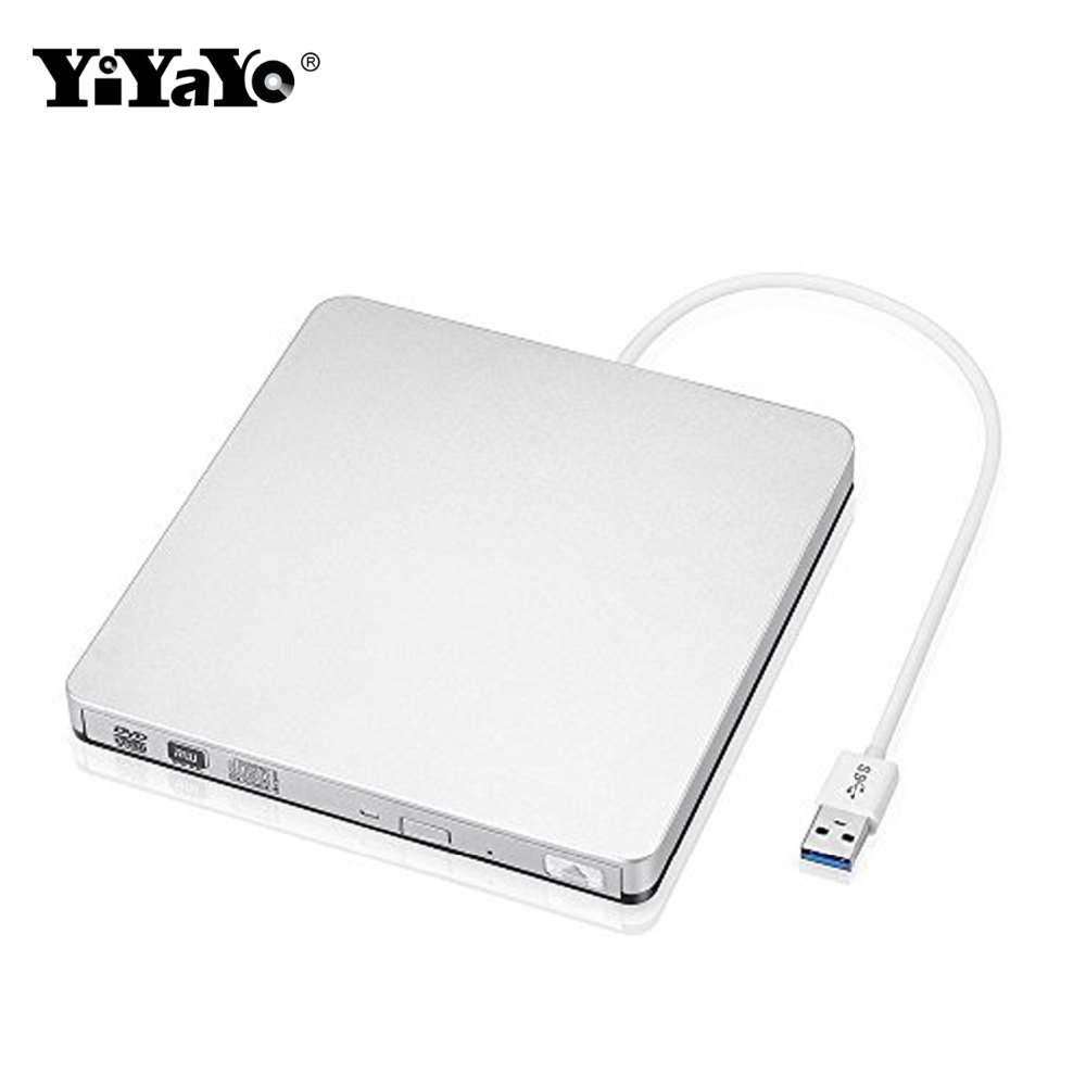 YiYaYo External USB 3.0 CD/ DVD RW CD ROM DVD ROM Optical Drive Ultra Slim Drive Portable/Burner for Windows 10/MAC OS linux