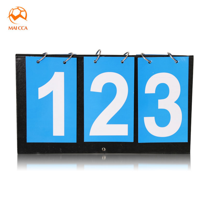 MAICCA score board 3 digit For Table tennis Football scoreboard Portable Soccer Cloth plastic Sports referee points card