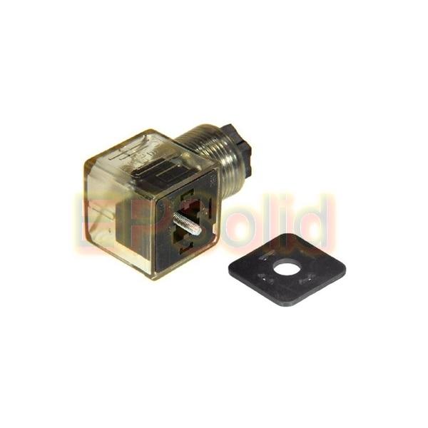 10 шт./лот Din 43650-A линейный разъем для клапана СОЛЕНОИДНЫЕ катушки разъем DIN43650A светодиодный индикатор DC Вольт