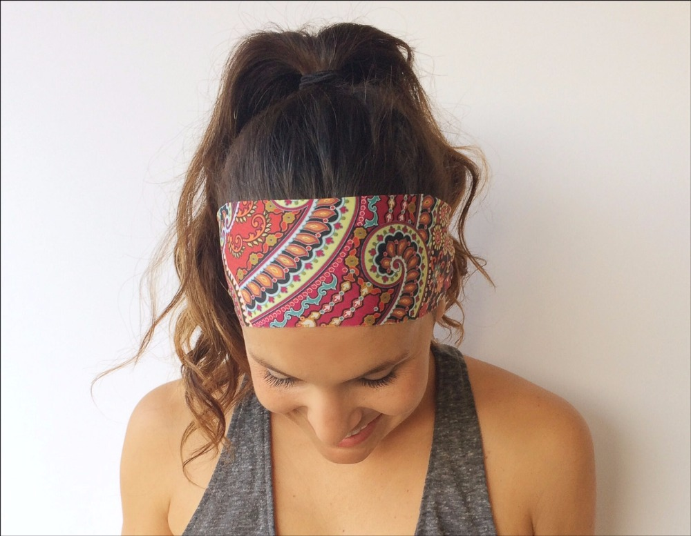New Women's <font><b>Wild</b></font> <font><b>Abandon</b></font> Print Fitness Wide Nonslip Headband Hair Accessories True North Collection