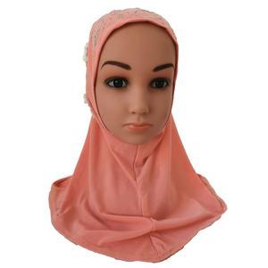 Image 5 - Ragazze I Bambini Musulmani Hijab Islam Arabo Sciarpa Scialli Fiori Foulard Arabo Caps Ramadan Scuola di Strass Bambino Copricapi Cappello di Moda