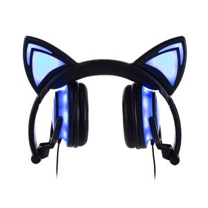 Image 3 - JINSERTA 2020 наушники для кошек, светодиодные наушники для кошек, светящиеся наушники, игровые наушники для взрослых и детей