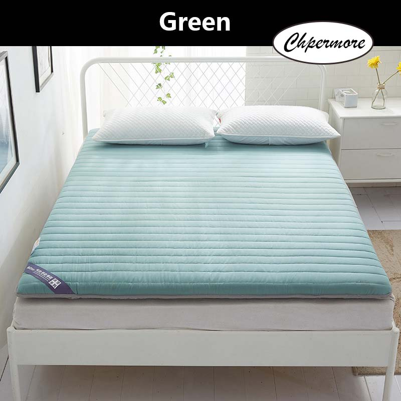 Image 2 - Chpermore Solid color Thicken Mattress Keep warm Tatami Foldable Mattresses Bedspreads King Queen Twin SizeMattresses   - AliExpress