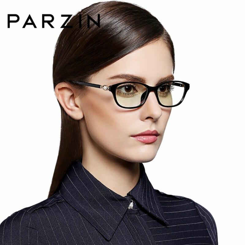 PARZIN Women Optics Myopia Glasses Frame With Clear Lens TR90 Fashion Square Prescription Eyewear Accessories new hot fashion unisex women men hipster vintage retro classic half frame glasses clear lens nerd eyewear 4 colors