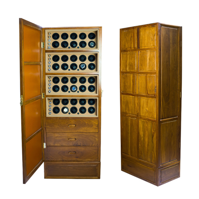 Watch Winder Cabinet 40 Automatic Display Solid Wood Chest Jewelry Storage The