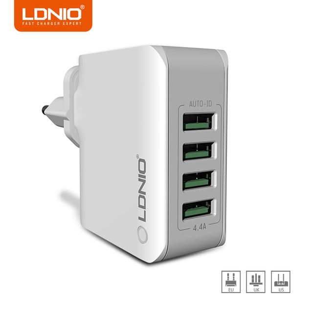 LDNIO Adapter Wall-Charger Universal Usb iPhone X 4-Port Huawei Smart 5V A4403 for Hot