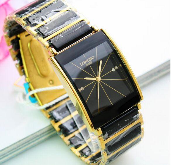 Minőségi divat férfi üzleti Longbo márka arany a kerámia - Férfi órák