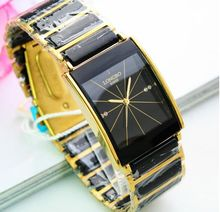 Qualité De Mode Homme D'affaires Longbo Marque Or Entre Noir En Céramique Casual montre à quartz horloge De Luxe Entre Hommes Montres