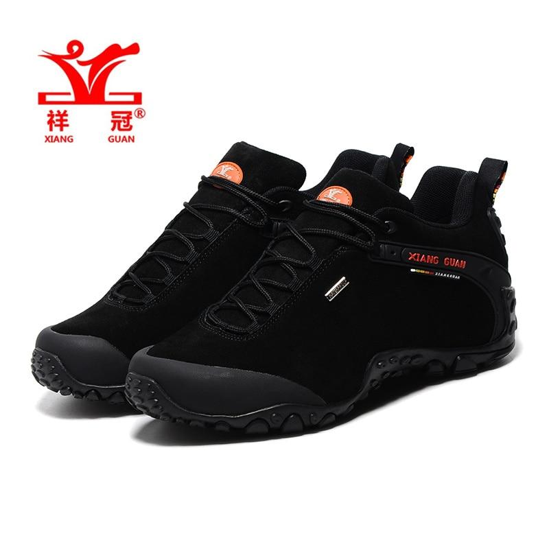 XiangGuan Men Outdoor hiking shoes waterproof boats zapatillas trekking hombre winter sport mountain Sneaker size 39-48