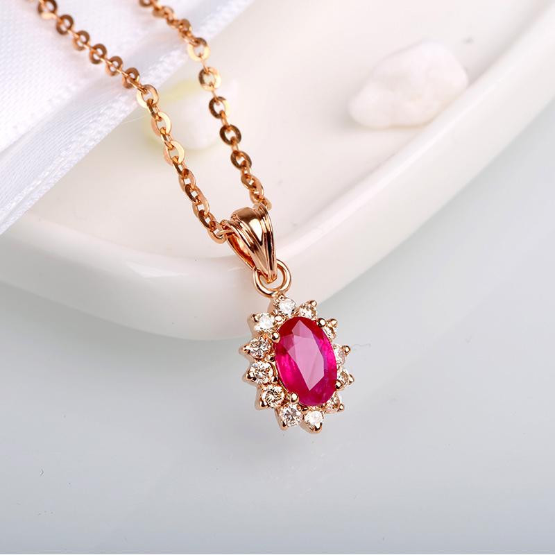 Classic ruby pendants for women 18k gold luxurious red ruby classic ruby pendants for women 18k gold luxurious red ruby pendant necklace gem precious stone jewelry pendant in pendants from jewelry accessories on mozeypictures Image collections