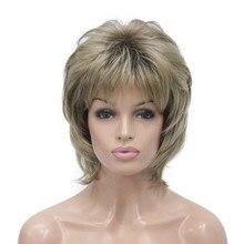 StrongBeauty Nữ Tổng Hợp Bộ tóc giả Ngắn Mái Tóc Auburn/Tóc Vàng Tự Nhiên Bộ tóc giả Capless Lớp Kiểu Tóc
