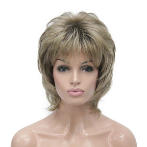 StrongBeauty Women Synthetic wig Short Hair Auburn/Blonde Natural wigs Capless Layered Hairstyles(China)
