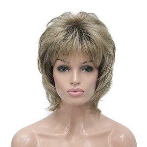 Image 1 - StrongBeauty נשים סינטטי פאה קצר שיער ערמוני/בלונד טבעי פאות בלי כומתה שכבות תסרוקות