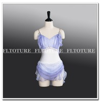 Girls Leotard For Skating Ballet Show Adult Chiffon Stage Costumes Child Size Lilac/Sky Blue/Orange/Pink Four Colors AT1267