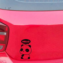 Cute And Interesting Fashion Panda Hello Art Painting Car Stickers Vinyl Decor Decals