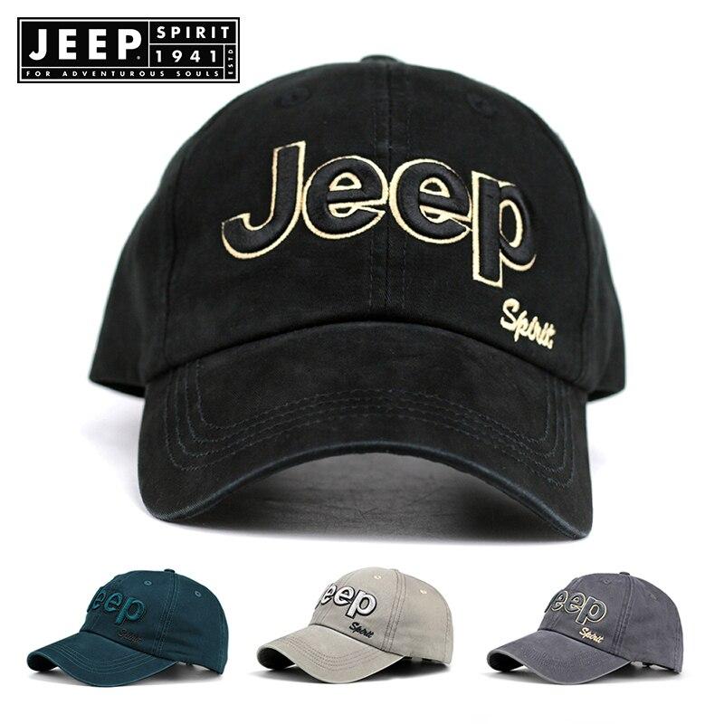 JEEP SPIRIT Brand Summer   Baseball     Cap   Women Men Mesh Breathable Snapback   Cap   Unisex Adjustable Sport Hats Dad Hat streetwear