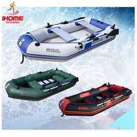 2.3m inflatable laminated  wear-resistant pvc boat rubber boat inflatables kayak fishing boat for 3~4person  With factory price