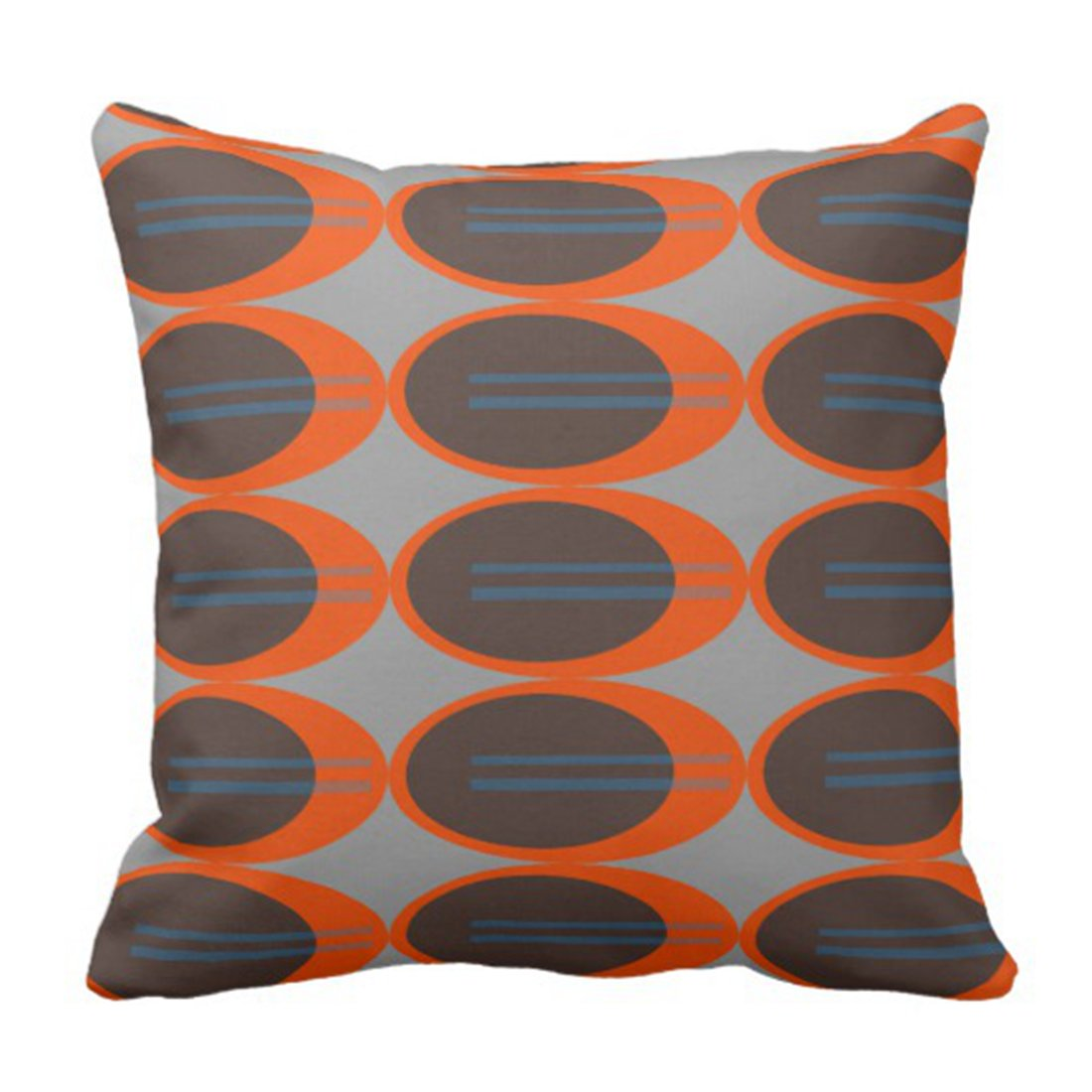 Throw Pillow Cover Retro Mid Century Modern Living Room Ative Pillow Case Home Square 16 X 16 Inch Pillow Case Aliexpress