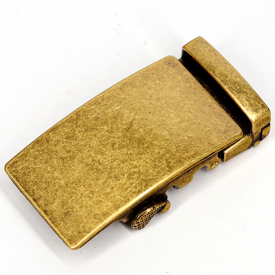 Men's Belt Buckle Comfort Ratchet Buckle Click Buckle Retro Copper