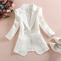 Spring And Summer New Short Paragraph Slim Cotton Suit Female Korean Version Of The Sleeves Casual
