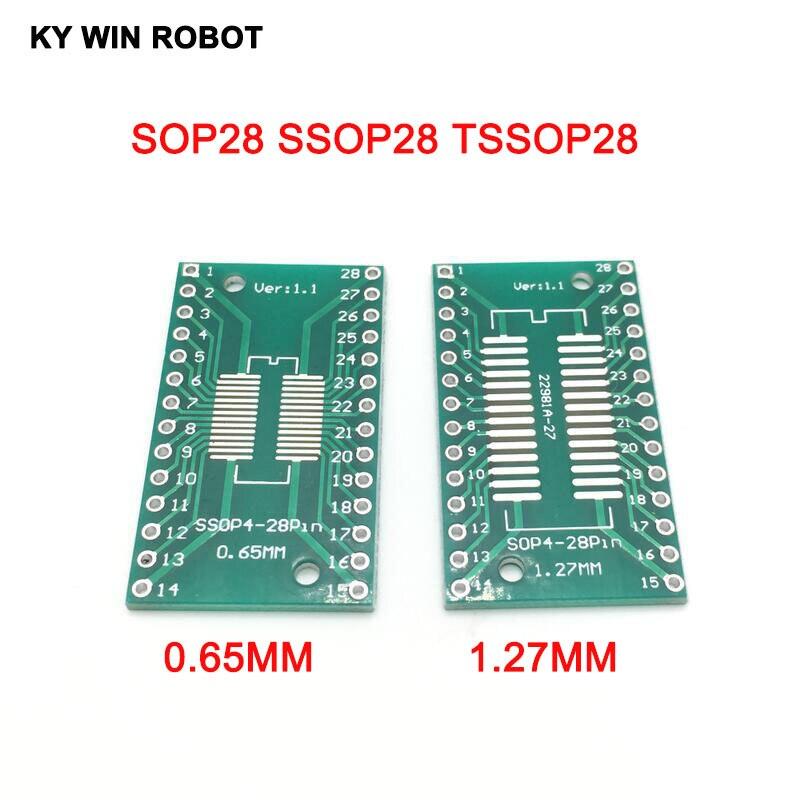 10pcs SOP16 SOP28 SSOP28 to DIP16 DIP28 Adapter Converter PCB Single Pin Header