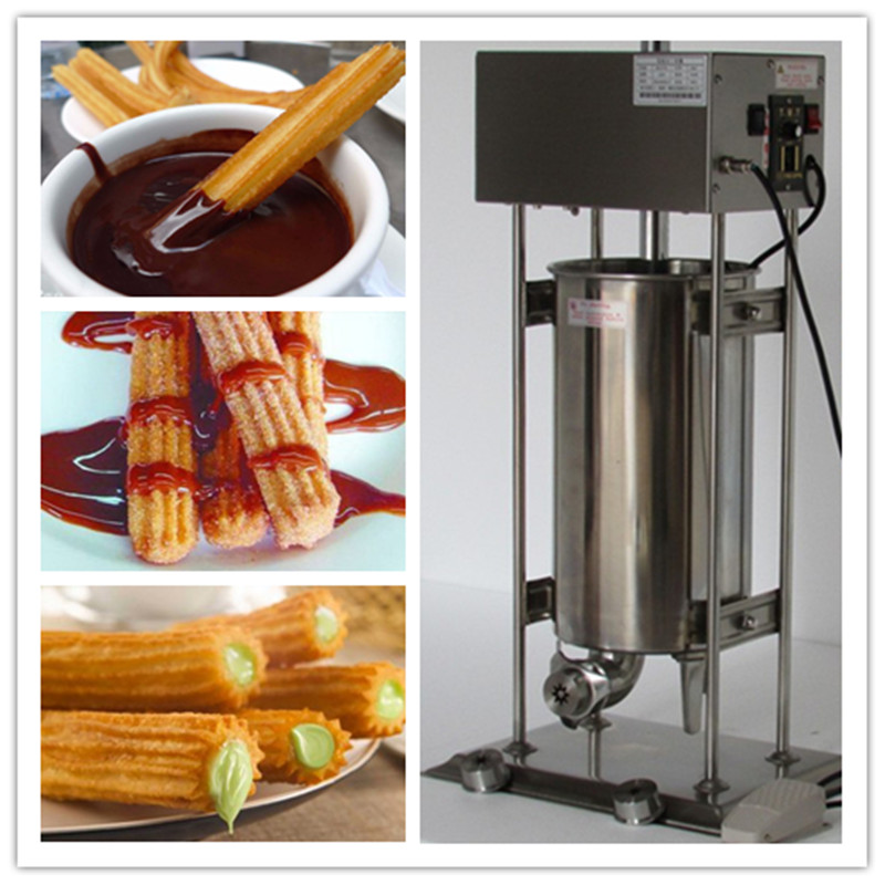 12L electric automatic spain churros machine fried bread stick making machines spanish snacks ,Latin fruit maker 5 pcs electrical spain spanish churros making machine