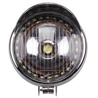 New 5 Universal Motorcycle White LED Angel Eye Headlight Headlamp For Harley Honda Yamaha Kawasaki Suzuki