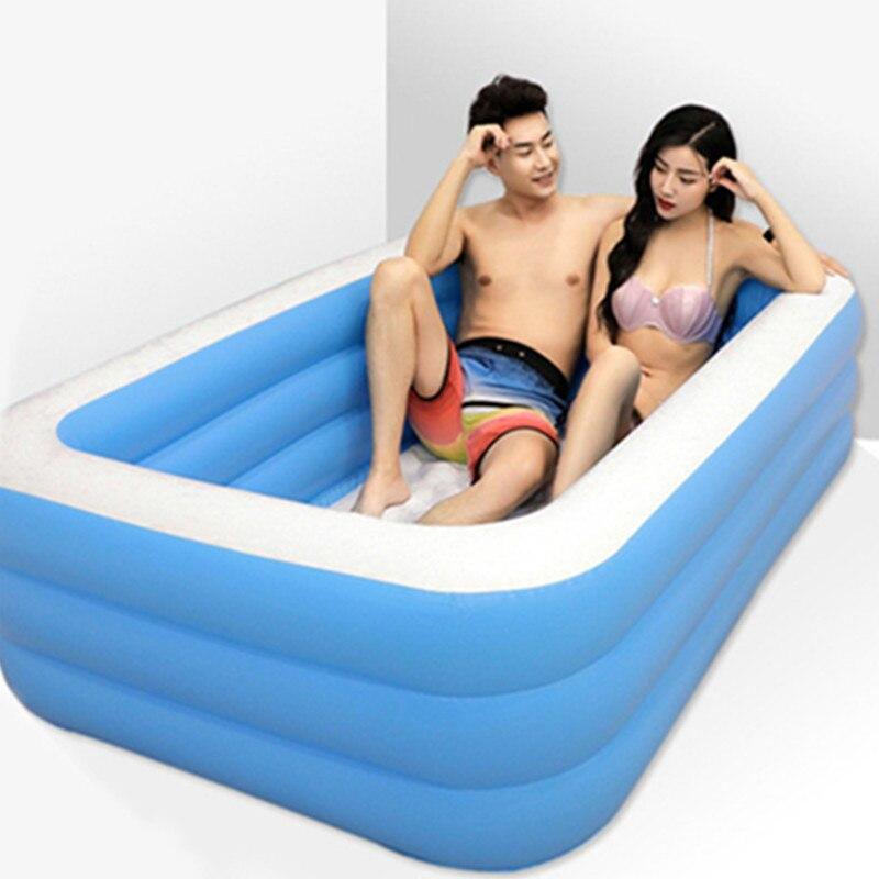Baignoire pliable amour sexe gonflable baignoire pour adultes garder au chaud piscine baignoire avec pompe à Air érotique baignoire jouets