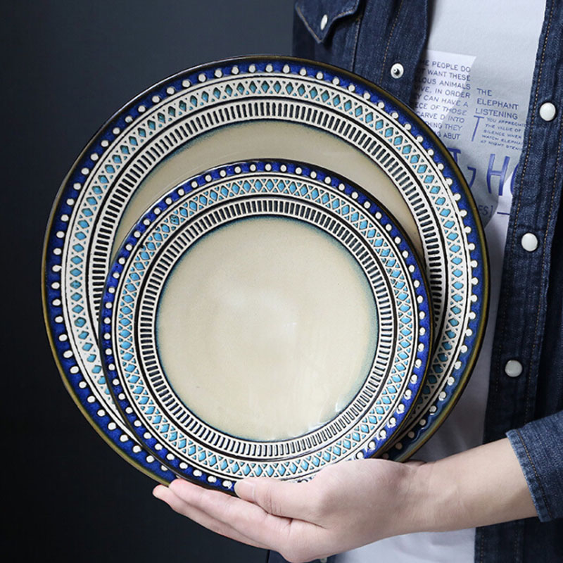 Western Salad Dishes: Exotic Style Dinnerware Sets, American Ceramics, Western