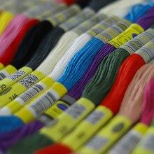 150 diferentes cores dmc algodão fio bordado ponto cruz 8.7yds 100% egípcio longo fibrer algodão duplo mercerizado
