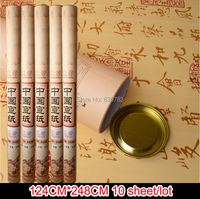 free shipping 10pcs/lot 124*248cm hand made chinese xuan paper / rice paper for calligraphy and sumi e painting