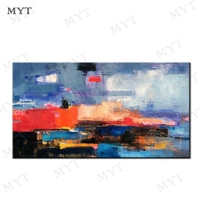 MYT Free Shipping For Sell Hot Sale 1 Pieces Pop Art Hand Painted Art Canvas No Frame No Framed Oil Painting Wall Art