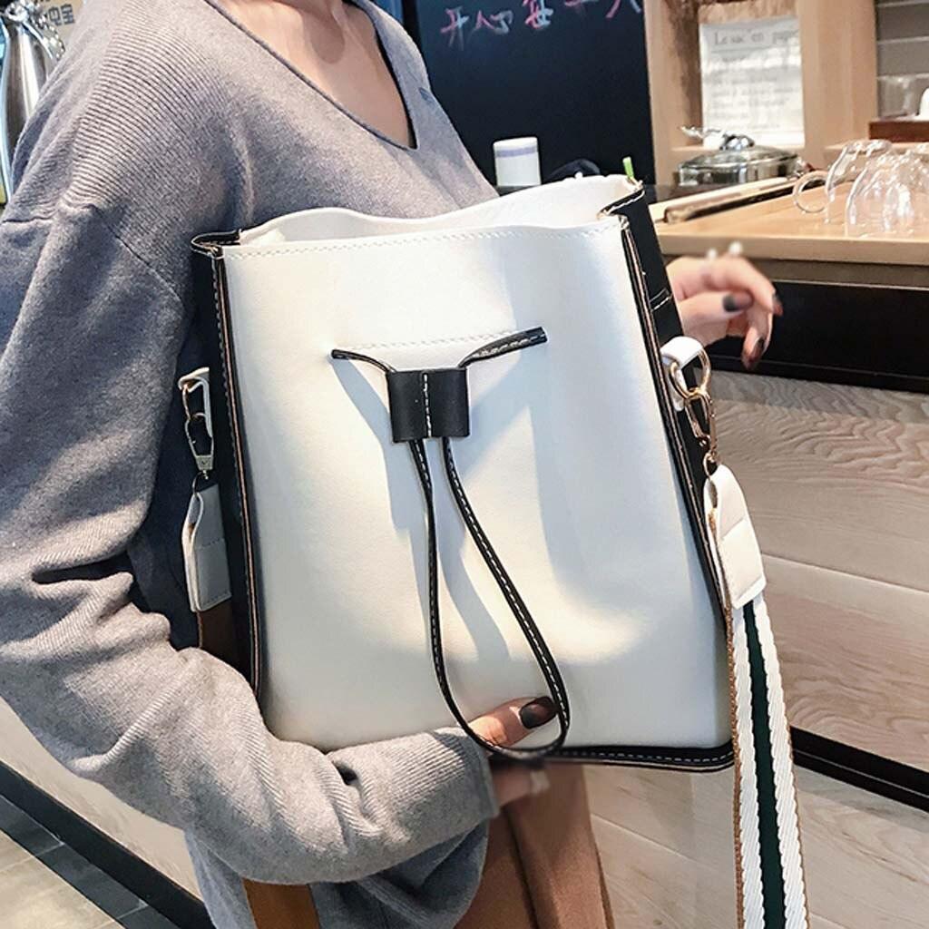 Летняя новая женская сумка ведро, цветная сумка на плечо, сумка мессенджер, вместительная сумка для студентов #30 Сумки с ручками      АлиЭкспресс