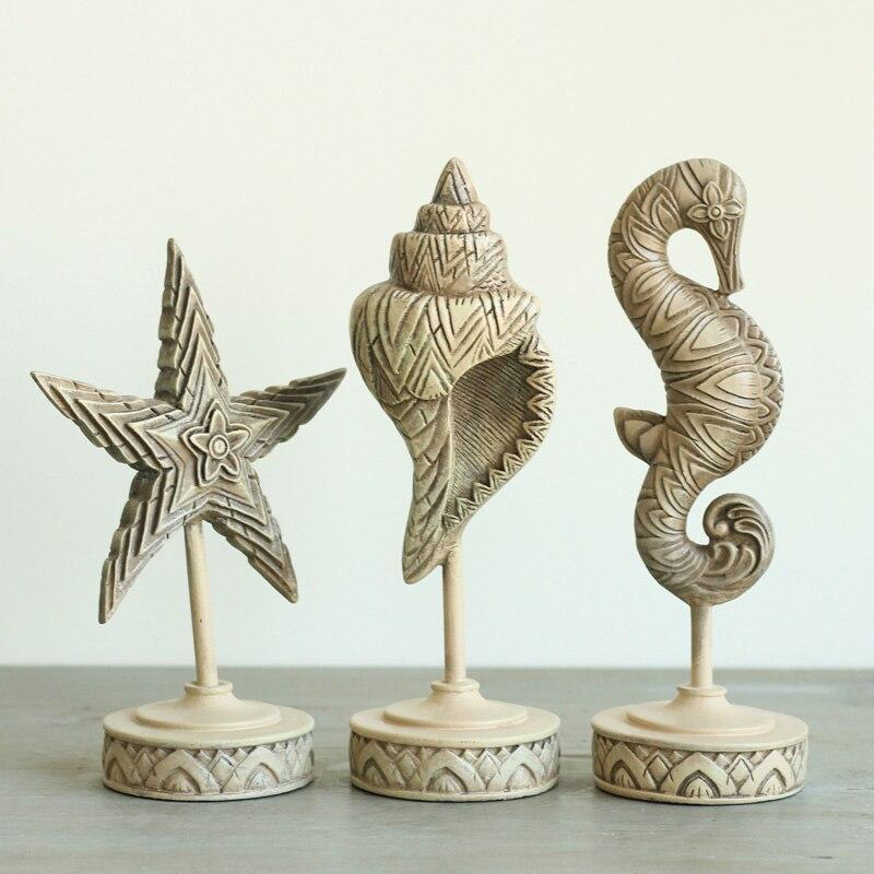 Американский кантри Средиземноморский стиль декора домашнего интерьера Ретро украшение дома три комплекта морской