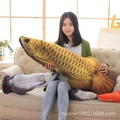 Simulation of Arowana pillow dragon fish plush toy doll creative large sleeping pillow send friends gifts