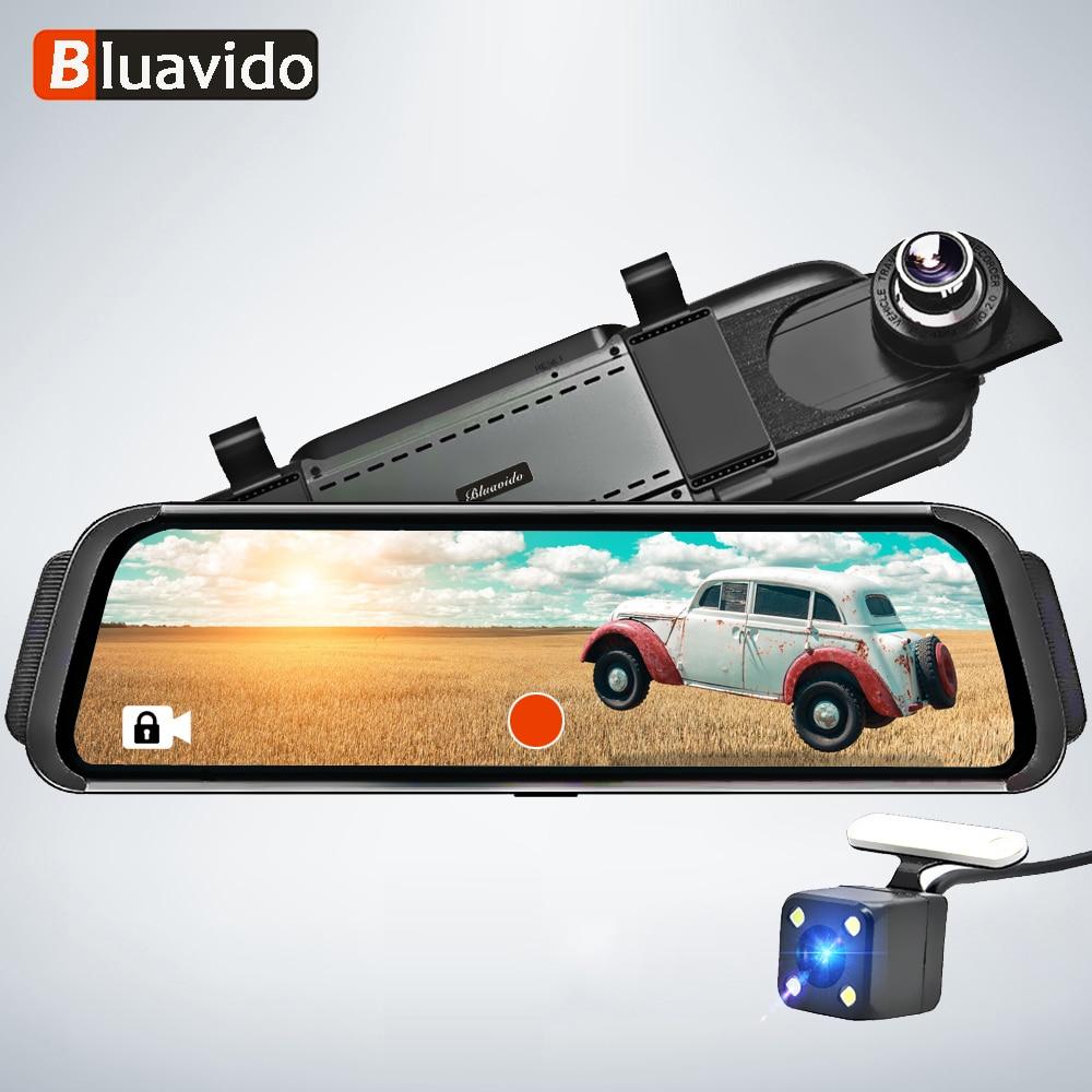 Bluavido 10 4G Android Car DVR mirror video Recorder FHD 1080P Car Camera GPS Navigation ADAS