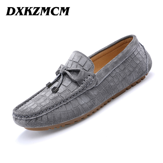 DXKZMCM Men Casual Shoes Fashion Men Shoes Leather Men Loafers Moccasins Slip On Men Flats  Male Shoes