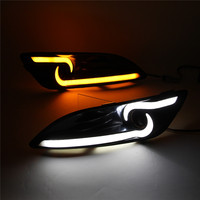 SNCN LED Daytime Running Light For Ford Fiesta 2013 2014 2015 2016 LED DRL Fog Lamp