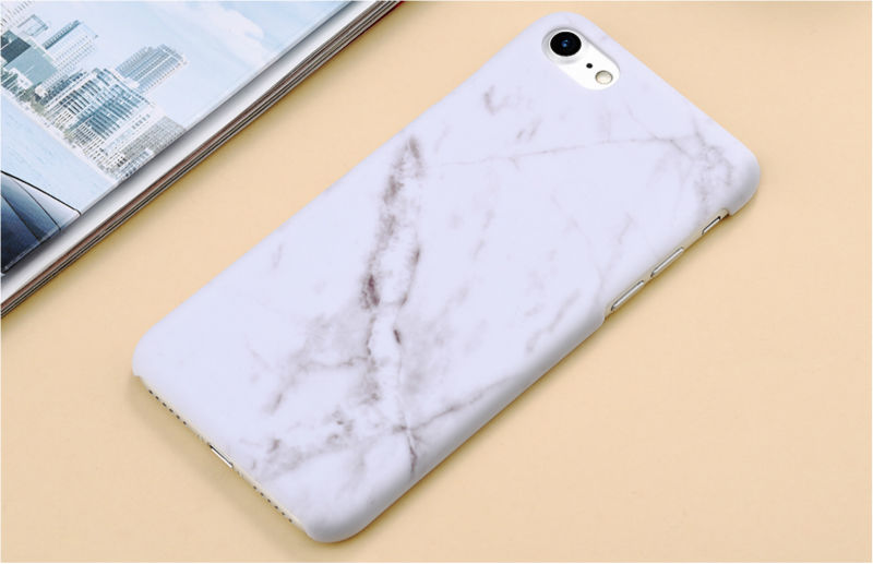 HTB1go6hPFXXXXccXpXXq6xXFXXX3 - Marble Pattern Phone Case For iPhone 7 5 5s SE 6 6s Plus Smooth Hard Plastic Phone Back Cover Cases For iPhone7 Plus PTC 131