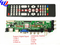 DS D3663LUA A81 2 PA V56 V59 Universal LCD Driver Board Support DVB T2 Universal TV