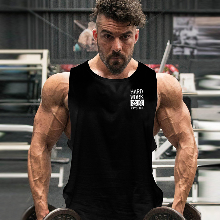 Men Breathable Running Gym Tank Top Quick Dry Sleeveless Sport Shirt Men Gym Clothing Summer Cool