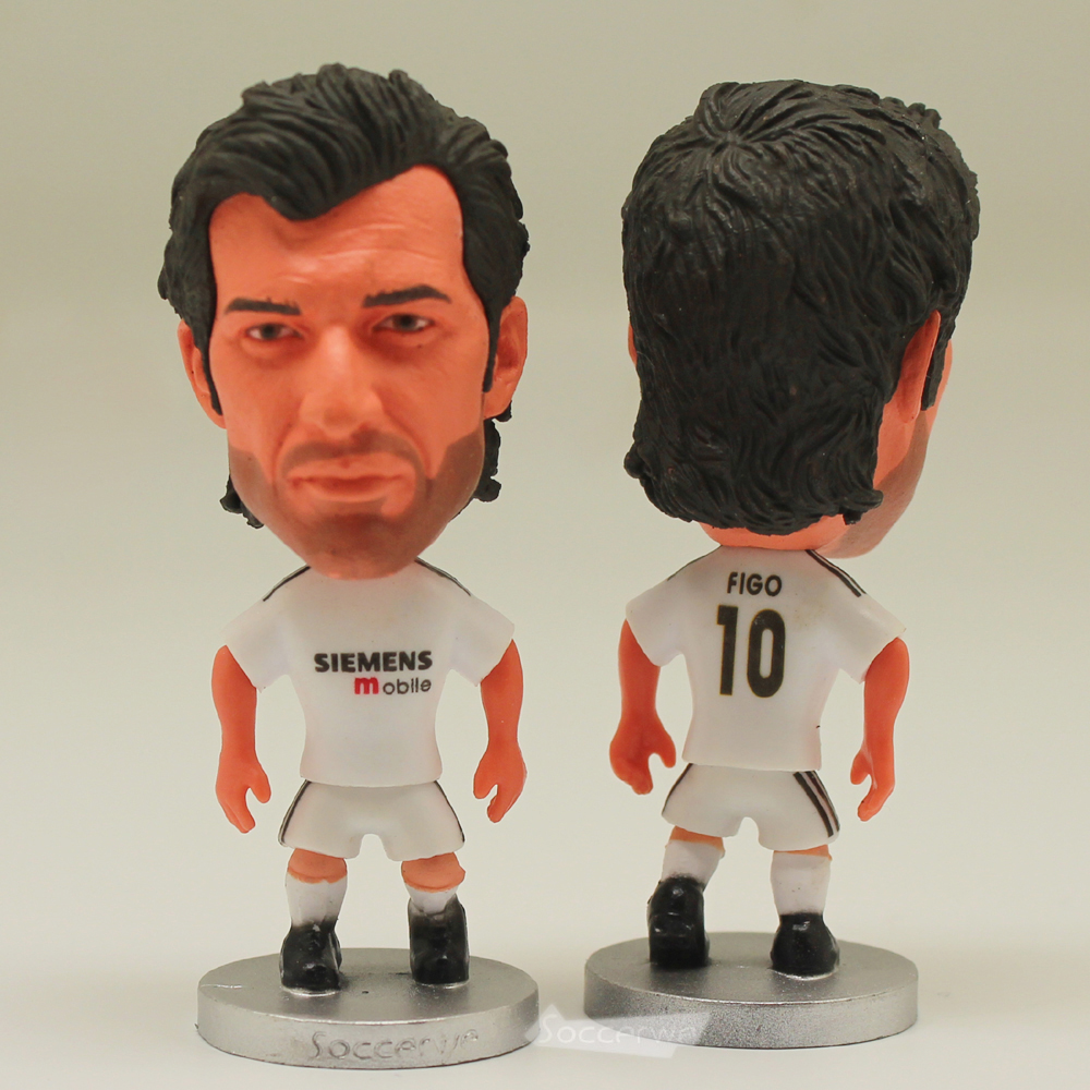 The classic football star Soccer Player Star 10# FIGO (RM-2005) 2.5 Toy Doll Figure Best Fan gift