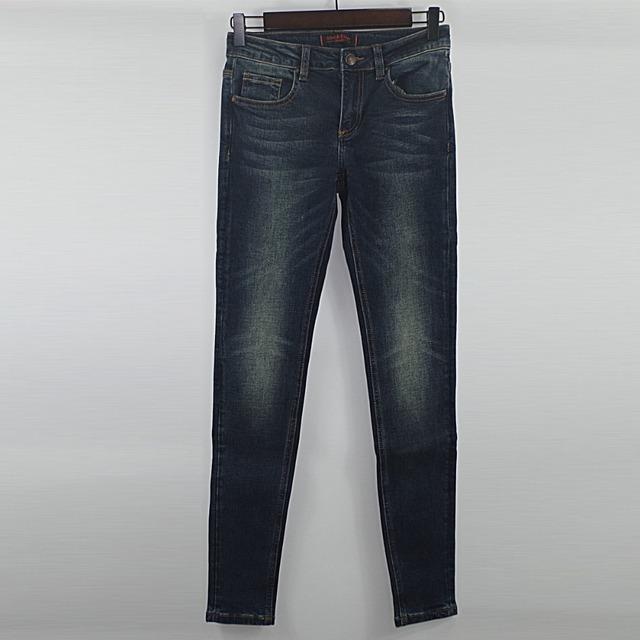 Alice & Elmer Skinny Women Jeans Shortened Woman Jeans For Girls Stretch Mid Waist Jeans Female Pants